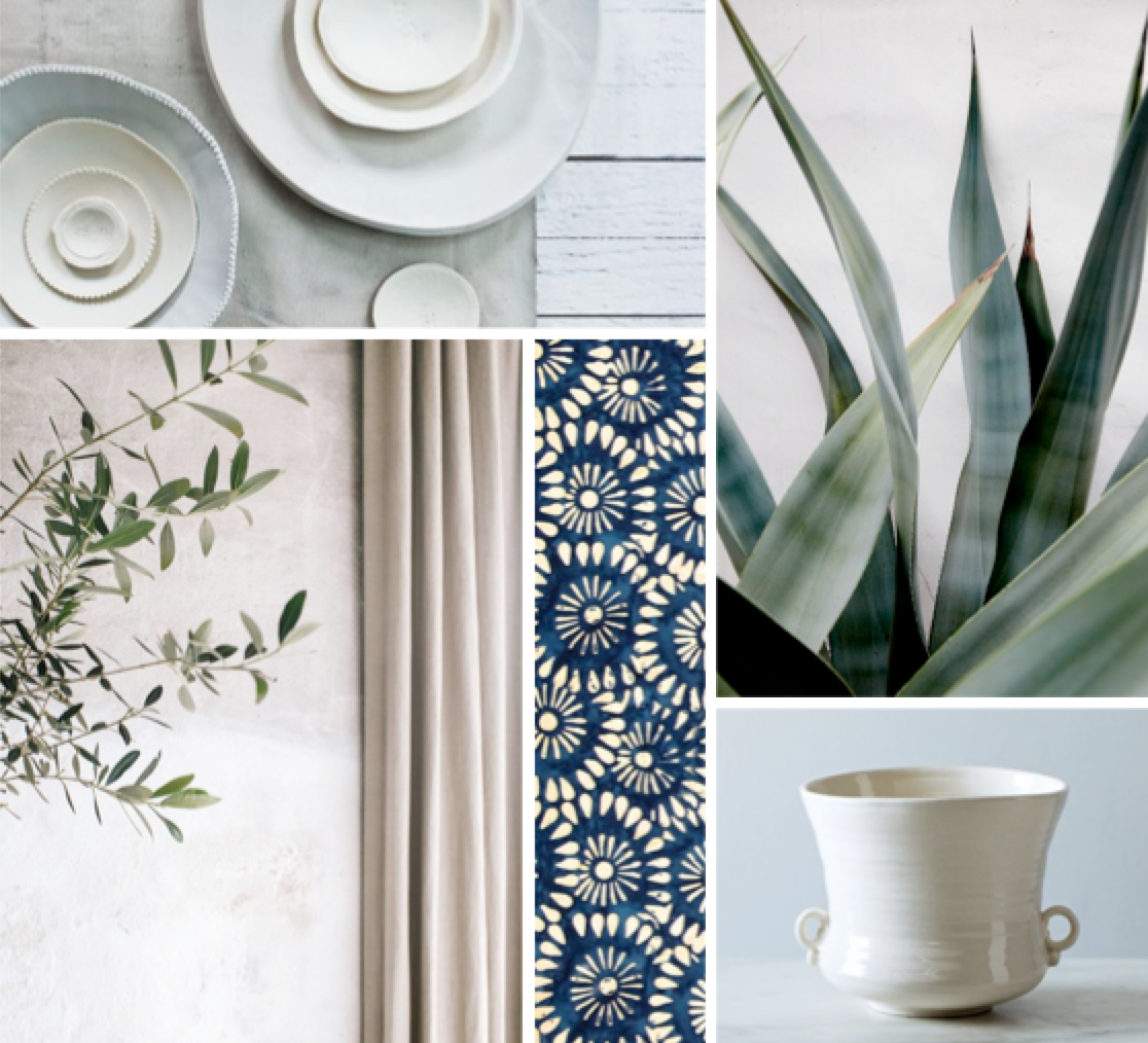 Home Design Inspiration: Accessorizing with Shades of Sage, Blue and Creme