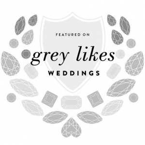 As seen in Grey Likes Weddings