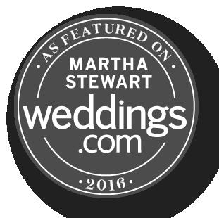 As seen in Martha Stewart Weddings