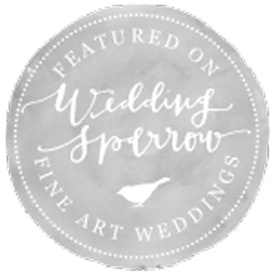 As seen on the Wedding Sparrow
